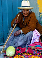 Woman With Fruit, Sacred Valley, Peru