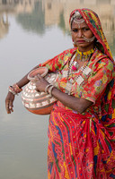 Woman with Jar, Pushkar Lake, India