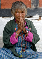 Woman Praying, Bhutan