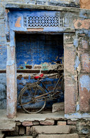 Bicycle in Doorway, Pushkar, India
