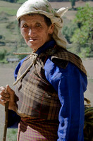 Woman with Stick,Jakar, Bhutan