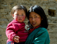Mother and Child,Bhutan