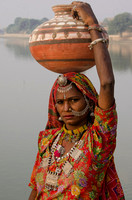 Woman with Jar,Gadi Sagar Lake,India