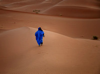 Blue Robed Man in the Sahara,Erfoud
