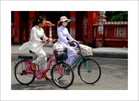 Schoolgirls on Bikes, Vietnam