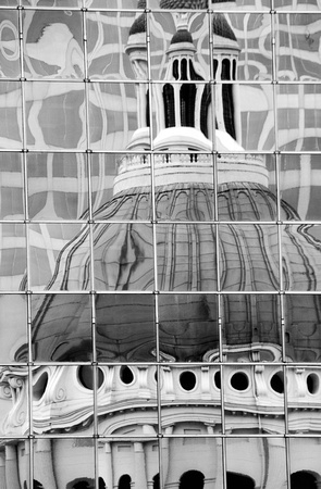 Old Courthouse Reflection, St. Louis, Mo.