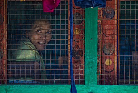 Woman in Window,Bhutan
